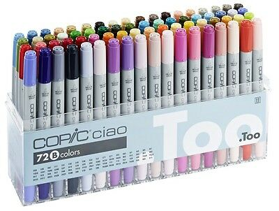 Copic Ciao - 72B Manga Marker Set Twin Tipped Refillable With Copic Various Inks