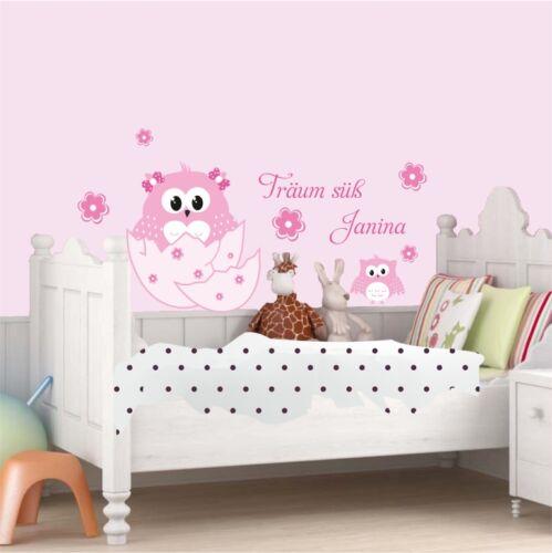 Mural Hibou Alma de l/'oeuf Hibou dormir bébé fleurs sticker