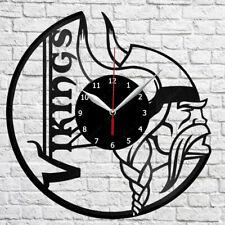 Minnesota Vikings Vinyl Clock Record Wall Clock Decor Fan Art Home 3291