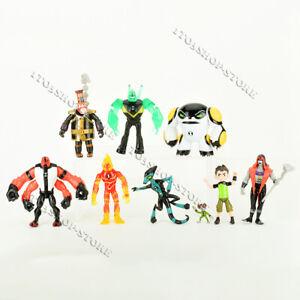 Ben 10 Action Figures Toy 9 PCS Set: Tennyson Four Arms Heatblast Cake Toppers