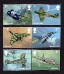 2018 RAF CENTENARY 100 YEARS  Mint Stamp Set of Six - England, United Kingdom - 2018 RAF CENTENARY 100 YEARS  Mint Stamp Set of Six - England, United Kingdom