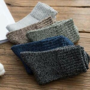 Soft-Solid-Casual-Winter-Sports-New-5-Pairs-Warm-Thick-Cashmere-Socks-Wool-Men
