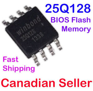 Details about W25Q128 Winbond BIOS IC FLASH SPI Memory 128M 133MHZ 8 SOIC  For IBM LENOVO DELL