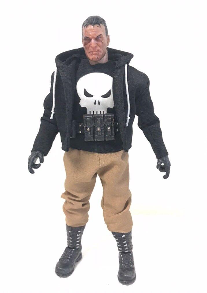 "Black NOX-ST-L FIGLot Fabric Hoodie for 7/"" Mattel WWE or Mezco One:12 Figure"