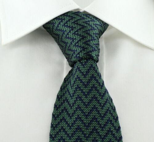 6cm Silk Knitted Skinny Zig Zag Design Ties Michelsons UK