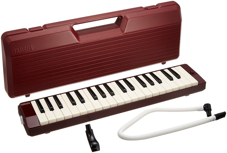YAMAHA Pianica Maroon P-37D Keyboard Harmonica Melodion Melodion Melodion From Japan P37D 4cf344