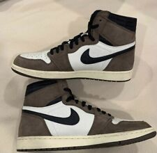Acusación cajón Grapa  Nike Air Jordan 1 Retro High Travis Scott Basket Shoes - Sail/Black-Dark  Mocha, US 11 (CD4487-100) for sale online   eBay
