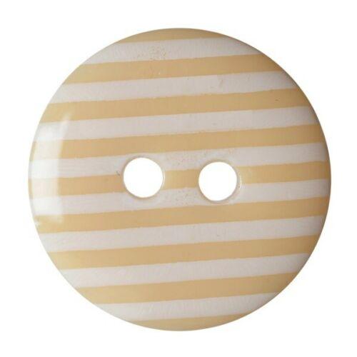 Paquete De 6 Dobladillo Stripy Craft 2 agujero coser a través de los botones de 15mm