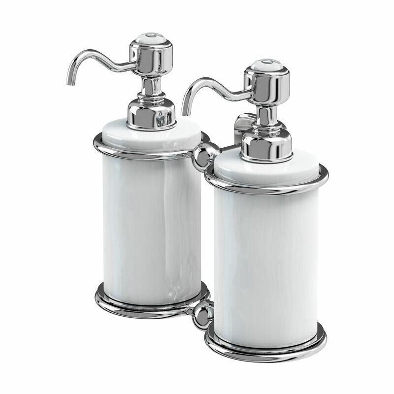 Burlington Double Soap Dispenser Wall Mounted Brand New, A20 CHR