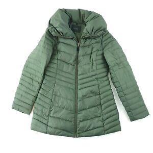 Andrew Marc New York Down Puffer Full Zip Jacket Coat Womens Medium Green