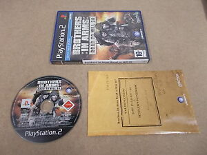PS2-Playstation-2-Pal-Game-BROTHERS-IN-ARMS-ROAD-TO-HILL-30-with-Box-Instruction