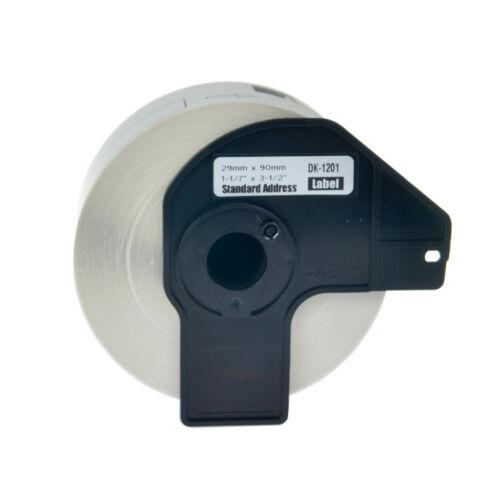 1 Roll DK1201 White Address Labels 400 Labels For Brother QL-650TD w//1 Frame