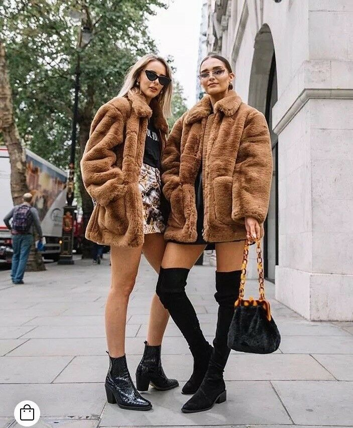 TOPSHOP • Faux Fur Zip Up Teddy Coat  • PETITE • Camel • BNWT