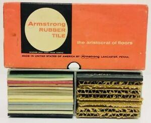 Vintage Armstrong Rubber 16 Floor Tile Salesman Original Travel