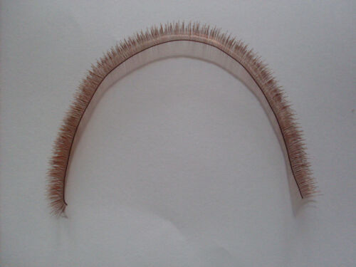 BROWN Eyelash STRIP for Reborn or Doll Making