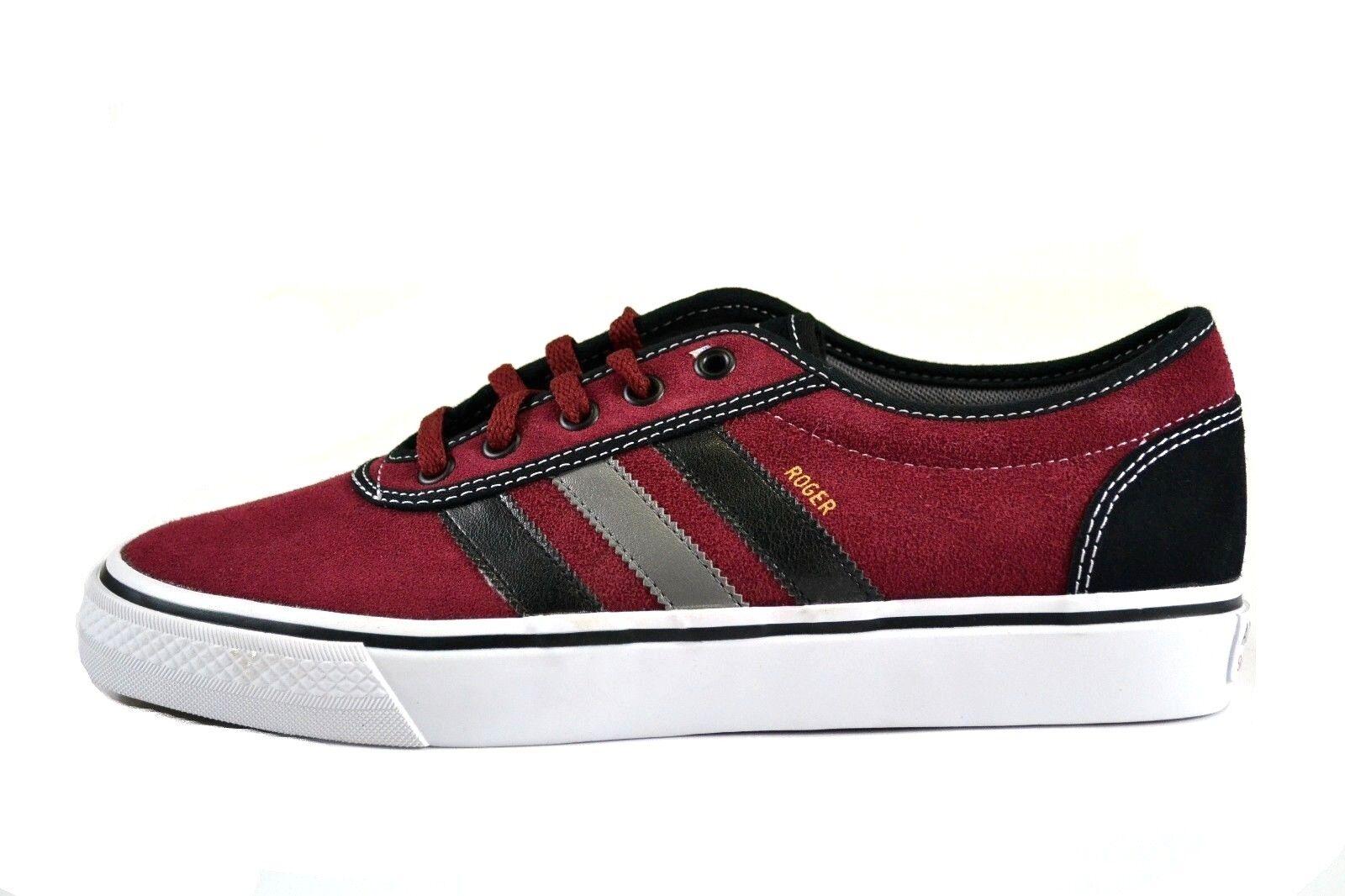 Adidas ADI EASE ROGER Red Black Gray White Suede Skateboarding (187) Men's Shoes