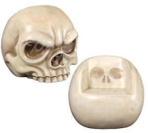Image Is Loading SINGLE Bone White Skull Gothic Furniture Art Oversized