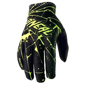 Guantes oNeal matriz Enigma amarillo Moto cross DH MTB mountain bike MX moto FR 							 							</span>