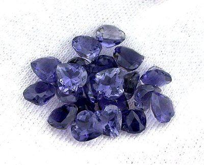 ONE 4mm Round Iolite Gem Stone Gemstone Faceted Natural Madagascar