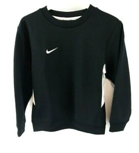 NIKE-Boys-Jumper-Sweater-6-8-Years-XS-Black-White-Polyester-amp-Cotton