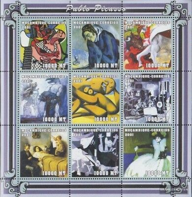 Mosambik 2061-2069 Sheetlet Unmounted Mint Never Hinged 2001 Art Stamps
