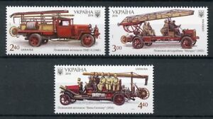 Ukraine-2016-neuf-sans-charniere-Fire-Engines-TRANSPORT-camions-3-V-SET-STAMPS