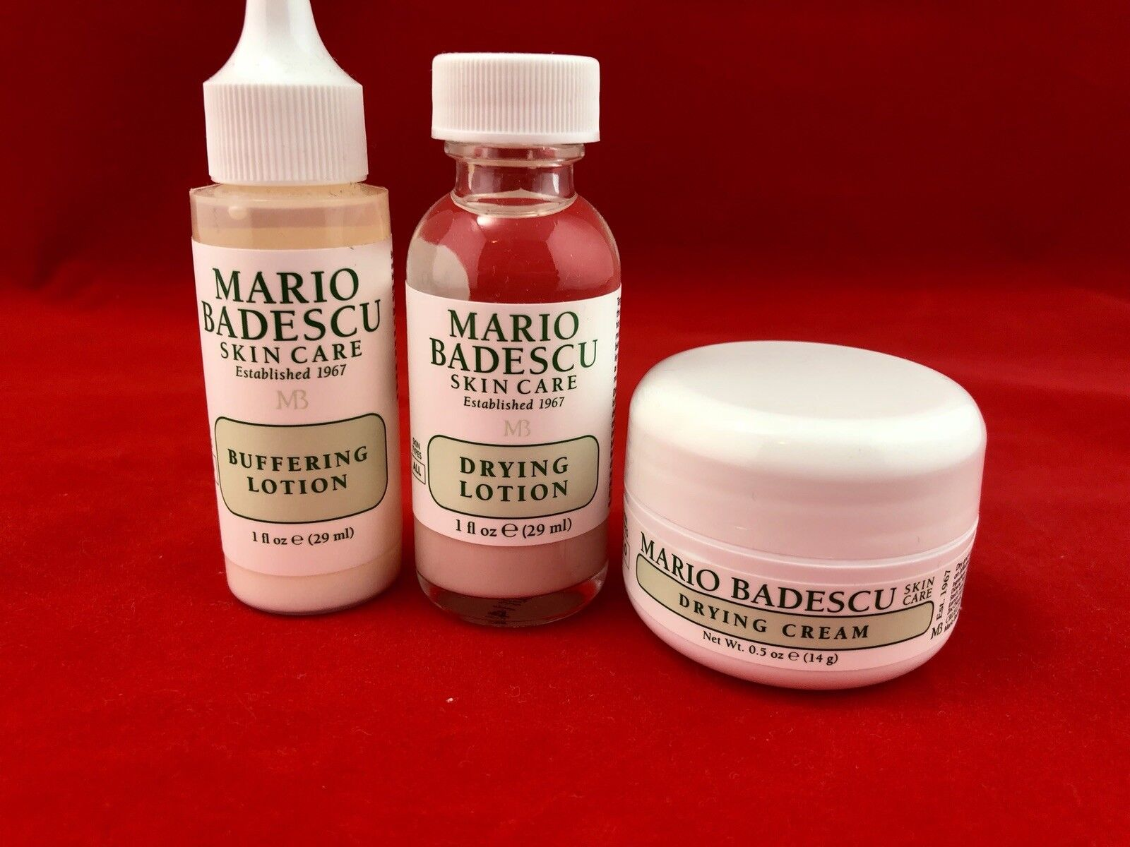 Mario Badescu Acne Repair Kit Drying Lotion Cream Buffering Lotion Sample