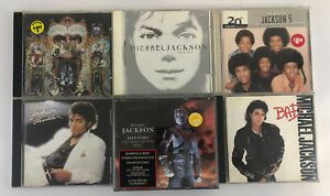 6 Michael Jackson CD's Thriller History Bad Invincible Dangerous Best of 5 +more