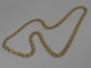 9ct-GOLD-DOUBLE-CURB-NECK-CHAIN-NECKLACE-18-034-LONG-CHAIN-HALLMARKED