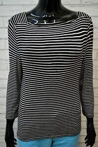 Maglia-a-Righe-Donna-RALPH-LAUREN-Taglia-S-Maglietta-Manica-3-4-Shirt-Woman