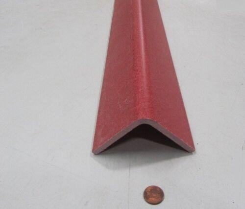"Fiberglass 90º Angles GPO3 Red .250/"" Thickness x 3.00/"" Arms  x 36/"" Length"