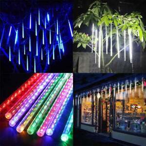 8-Tubes-LED-Waterproof-Meteor-Shower-Rain-Drop-Icicle-Snow-Christmas-Xmas-Light