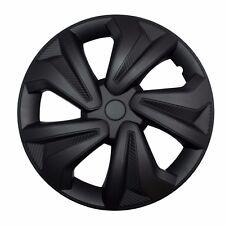 """4x Radkappen Carbon BLACK 15"""" Zoll Auto Radzierblenden Schwarz BMW AUDI VW"""