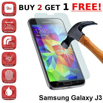Samsung Galaxy J3 (2016) Clear Tempered Glass Screen Protector from Canada