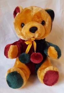 Teddy Teddybär Stofftier 25 cm Plüschbär Plüsch Kuscheltier Braun Bunt