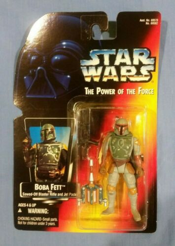 rouge Star Wars Power of the Force Boba Fett Action Figure Comme neuf on Card