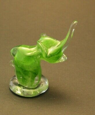 Pottery & Glass Selfless Collectable Hand Made Glass Art Animal Paperweight Elephant Décor Gift S26