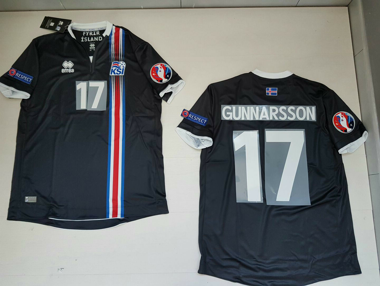 GUNNARSSON Island-Island Ísland B T-Shirt JERSEY Trikot PATCH B Ísland 9a81fb