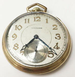 *vtg Waltham Premier Colonial 17 Jewel 10k Rolled Gold Pocket Watch Working Buy One Give One Pocket Watches