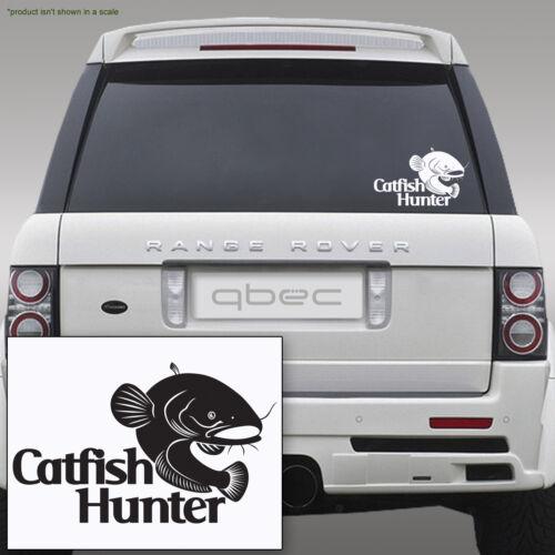 WELS CATFISH HUNTER carp pike fishing angler hooks car sticker 210mm x 130mm