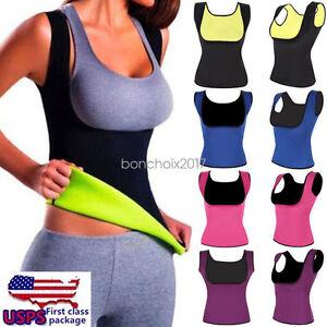 1a4c48d809b23 USA Sweat Sauna Body Shaper Slimming Vest Thermo Neoprene Waist ...