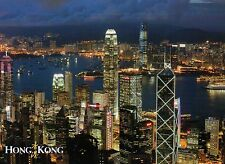 Downtown, Central Hong Hong from The Peak, Bank of China, IFC, HK --- Postcard