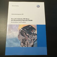 VW Polo V SSP Selbststudienprogramm 534 1,4L 3-Zylinder TDI Motor CUSA CUSB CUTA