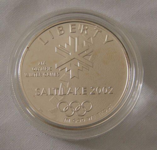 2002 OLYMPIC WINTER COMMEMORATIVE COIN UNCIRCULATED SILVER DOLLAR MORMON TEMPLE