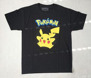 L Pikachu Negra Camisa Grande Gráfica Adulto Tamaño Pokemon Ywtqt5