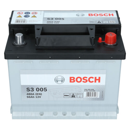 Bosch 12V 56Ah 480A EN S3 005 Autobatterie Starterbatterie PKW Batterie NEU