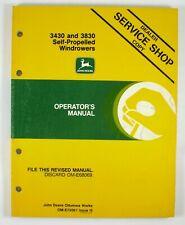 John Deere 3430 3830 Self Propelled Windrower Technical Manual on