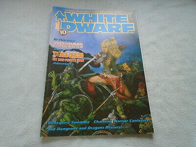 Giochi Di Ruolo Rivista White Dwarf Numero 92 Agosto 1987-mostra Il Titolo Originale