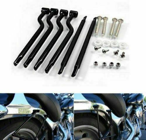 Motorrad Satteltaschenträger Bar Halterung Stahl für Harley Honda Yamaha Suzuki