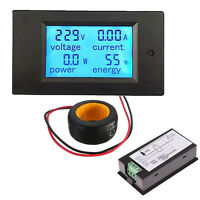 100a Ac Digital Led Power Panel Meter Monitor Power Energy Voltmeter Ammeter P